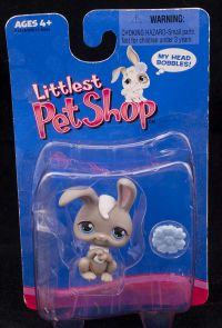 2005 Hasbro LPS Littlest Pet Shop G1 First Generation Gray Bunny Rabbit #14